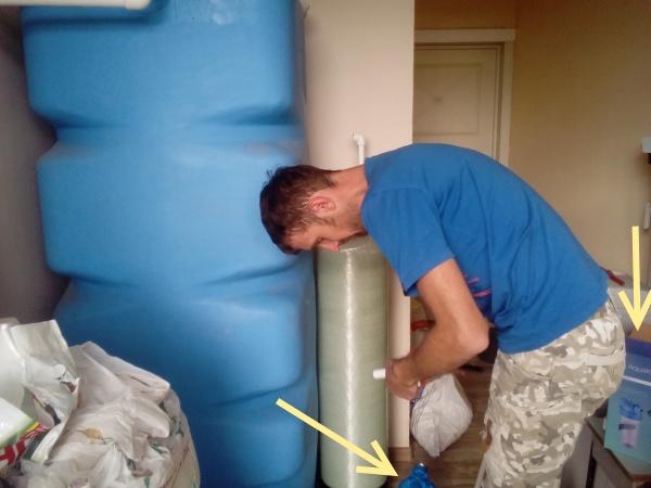Система водоочистки авария оторвало фильтр