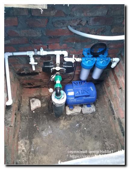 под ключ кессон установка оборудование обустройство завести воду скважина насос схема