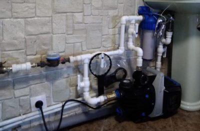 давление насос вода водопровод