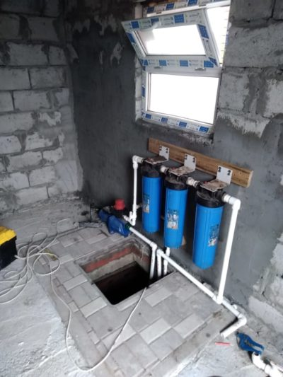 скважина насос дом вода